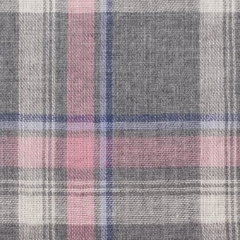 コットン×チェック(グレー&ピンク)×Wガーゼ サムネイル1