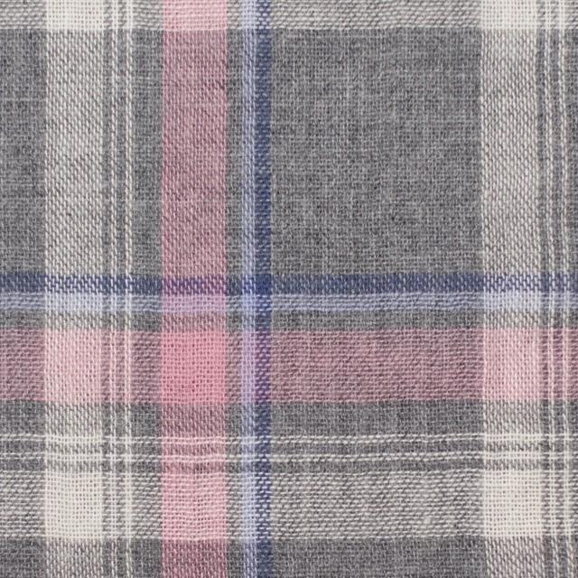 コットン×チェック(グレー&ピンク)×Wガーゼ イメージ1