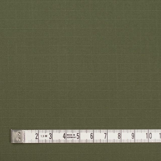 コットン×無地(カーキグリーン)×リップストップ イメージ4