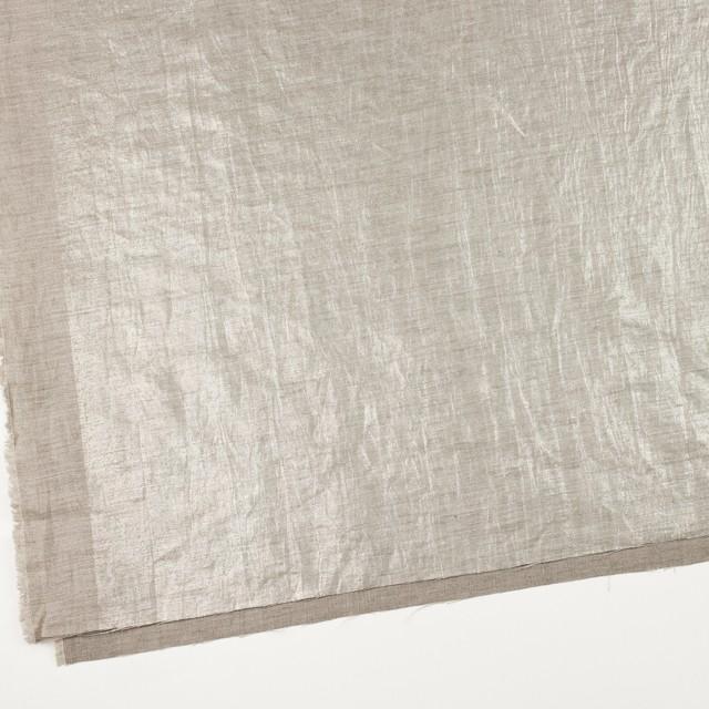 リネン&キュプラ×無地(メタル)×かわり織ワッシャー(ラメ箔プリント) イメージ2