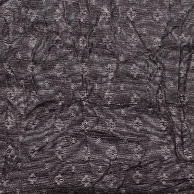 ポリエステル&トリアセテート×幾何学模様(ダークブロンズ)×ドビーワッシャー イメージ1