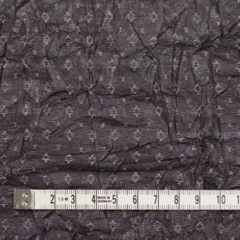 ポリエステル&トリアセテート×幾何学模様(ダークブロンズ)×ドビーワッシャー サムネイル4