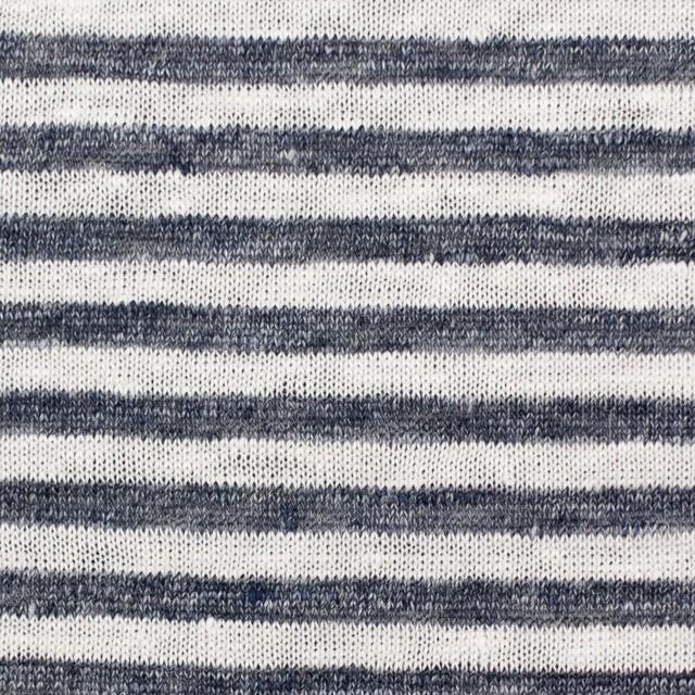 リネン×ボーダー(ダークネイビー)×天竺ニット_全2色 イメージ1