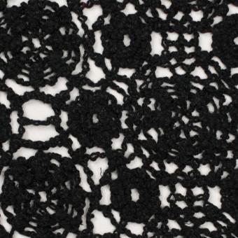 コットン×フラワー(ブラック)×クロッシュレース_全5色