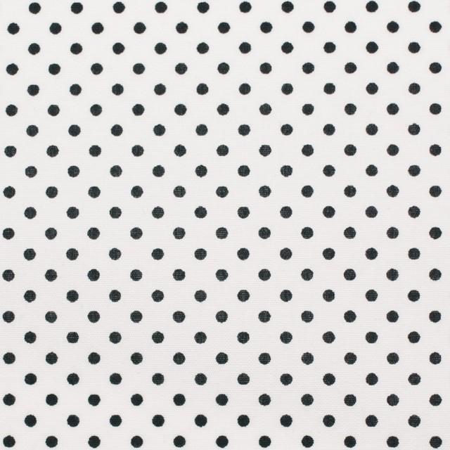 コットン×ドット(オフホワイト&ブラック)×ブロード_全3色 イメージ1