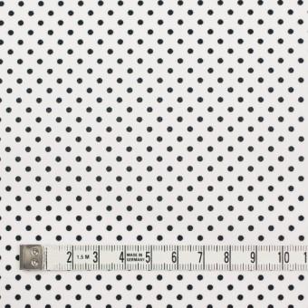 コットン×ドット(オフホワイト&ブラック)×ブロード_全3色 サムネイル4