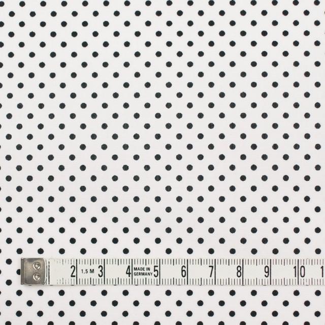 コットン×ドット(オフホワイト&ブラック)×ブロード_全3色 イメージ4