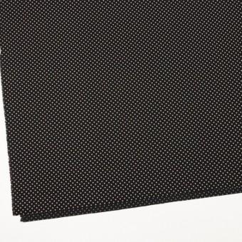 コットン×ドット(ブラック&グレイッシュベージュ)×ブロード_全3色 サムネイル2