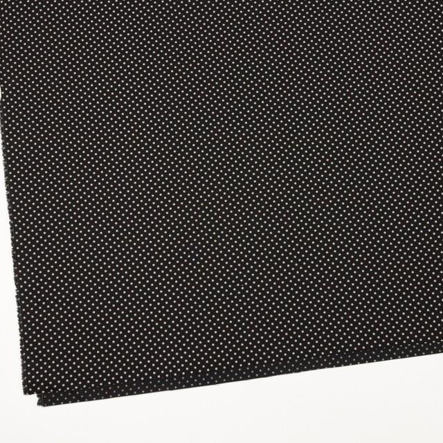 コットン×ドット(ブラック&グレイッシュベージュ)×ブロード_全3色 イメージ2