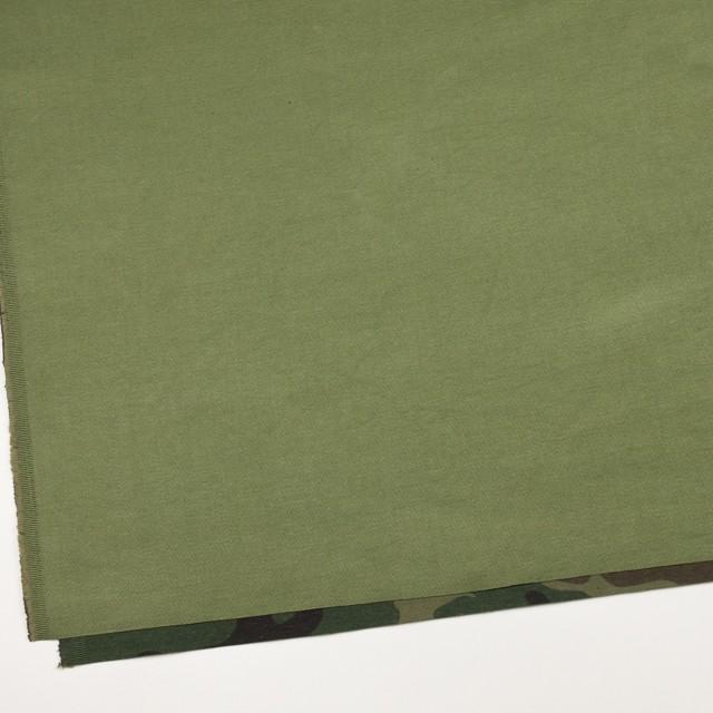 コットン&ナイロン×無地(カーキグリーン)×チノクロスワッシャー(裏面迷彩プリント) イメージ2