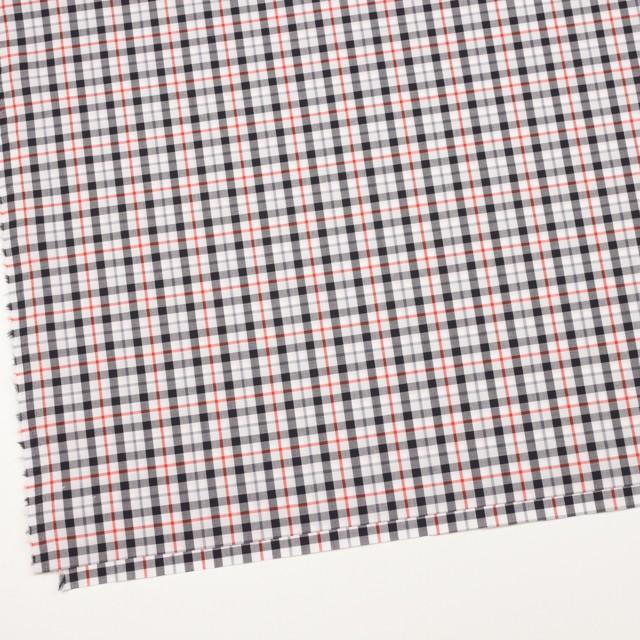 コットン×チェック(オレンジ&ブラック)×ブロード_イングランド製 イメージ2