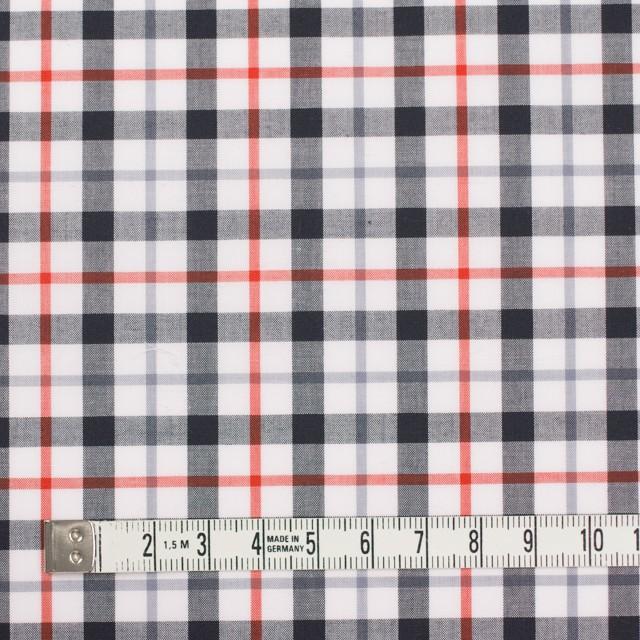 コットン×チェック(オレンジ&ブラック)×ブロード_イングランド製 イメージ4