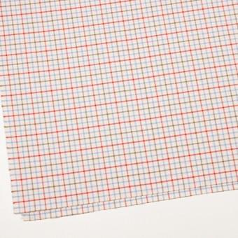 コットン×チェック(サックス&レッド、カーキ)×サージ_イングランド製 サムネイル2