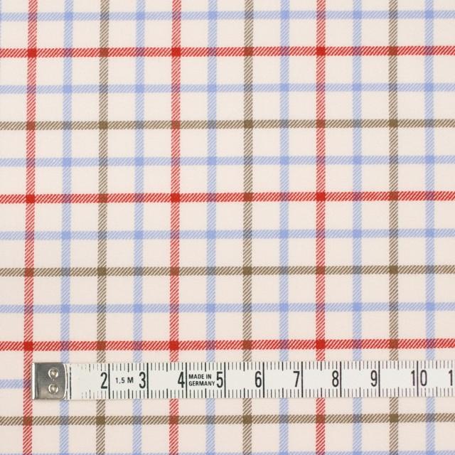 コットン×チェック(サックス&レッド、カーキ)×サージ_イングランド製 イメージ4