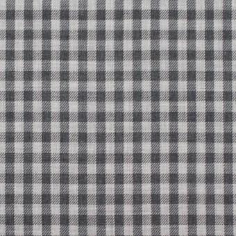 コットン×チェック(グレーミックス)×薄サージ_イングランド製 サムネイル1