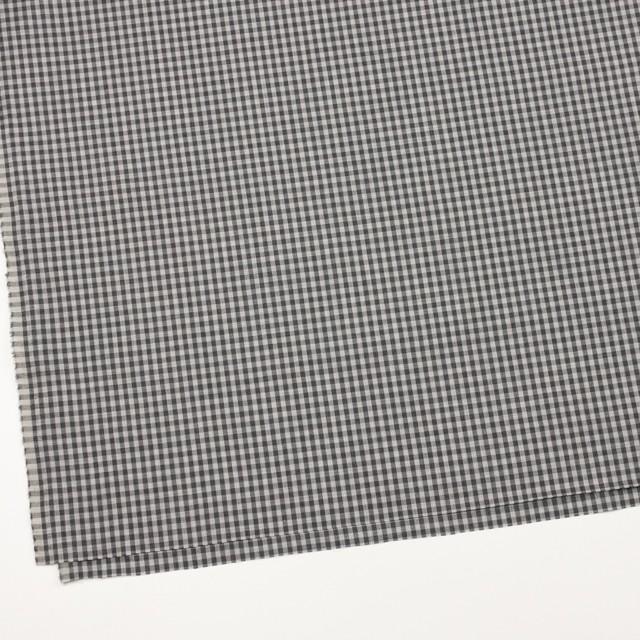 コットン×チェック(グレーミックス)×薄サージ_イングランド製 イメージ2