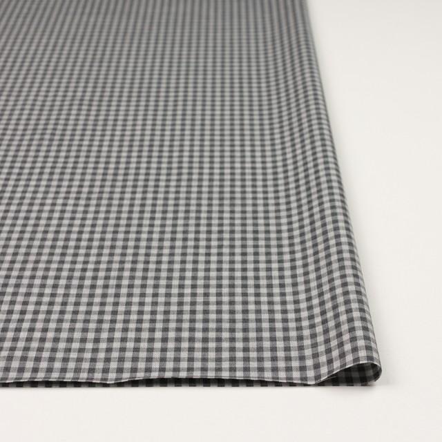 コットン×チェック(グレーミックス)×薄サージ_イングランド製 イメージ3