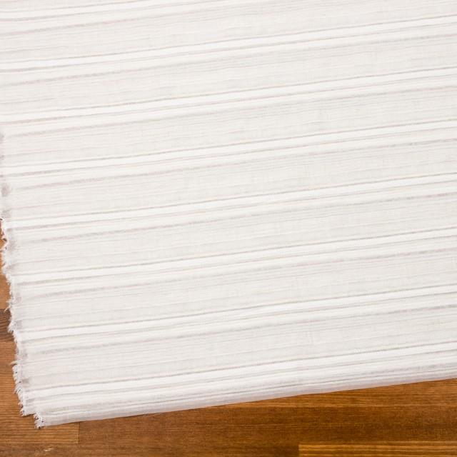 ナイロン&リネン混×ボーダー(アイボリー)×オーガンジー・ジャガード_全4色 イメージ2