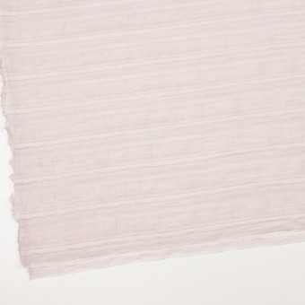 ナイロン&リネン混×ボーダー(ピンクベージュ)×オーガンジー・ジャガード_全4色 サムネイル2