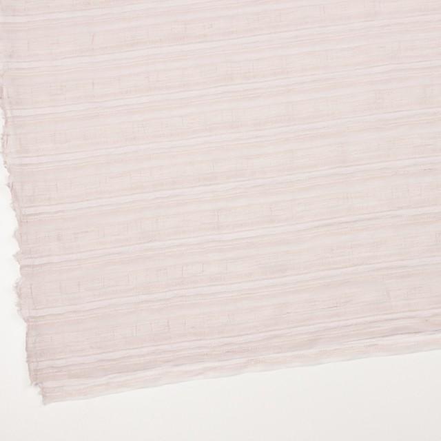 ナイロン&リネン混×ボーダー(ピンクベージュ)×オーガンジー・ジャガード_全4色 イメージ2