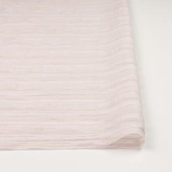 ナイロン&リネン混×ボーダー(ピンクベージュ)×オーガンジー・ジャガード_全4色 サムネイル3