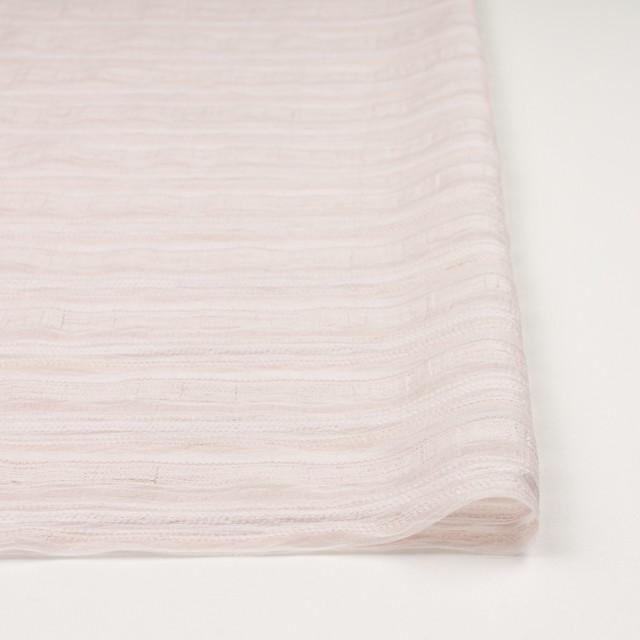 ナイロン&リネン混×ボーダー(ピンクベージュ)×オーガンジー・ジャガード_全4色 イメージ3