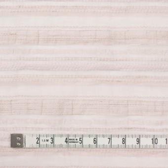 ナイロン&リネン混×ボーダー(ピンクベージュ)×オーガンジー・ジャガード_全4色 サムネイル4