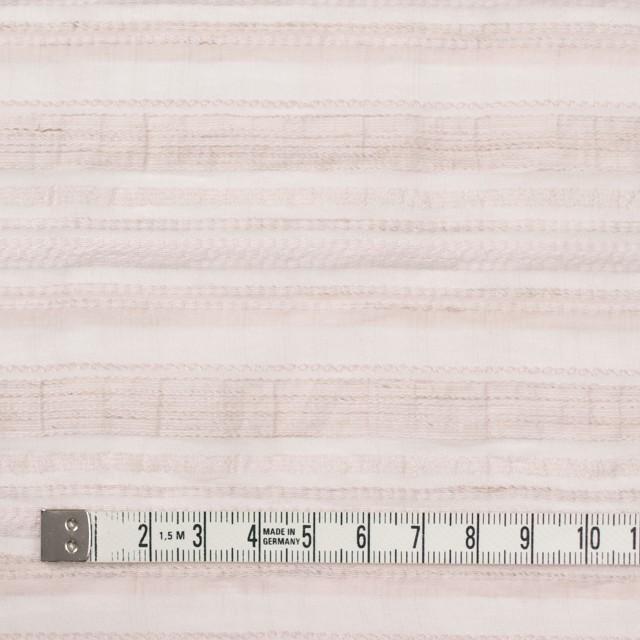 ナイロン&リネン混×ボーダー(ピンクベージュ)×オーガンジー・ジャガード_全4色 イメージ4