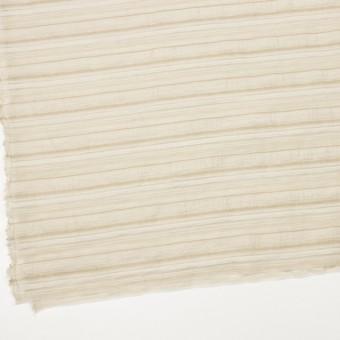 ナイロン&リネン混×ボーダー(ベージュ)×オーガンジー・ジャガード_全4色 サムネイル2