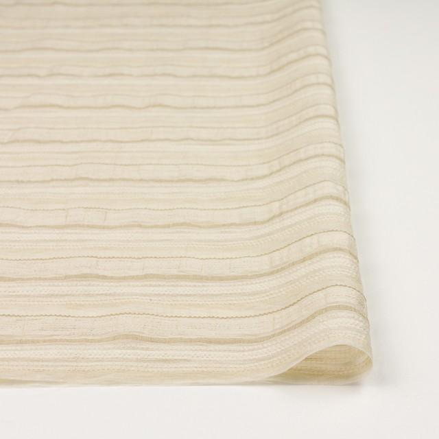 ナイロン&リネン混×ボーダー(ベージュ)×オーガンジー・ジャガード_全4色 イメージ3