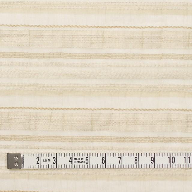 ナイロン&リネン混×ボーダー(ベージュ)×オーガンジー・ジャガード_全4色 イメージ4