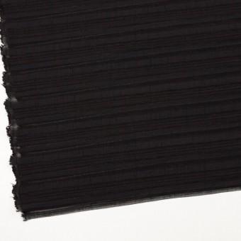 ナイロン&リネン混×ボーダー(ブラック)×オーガンジー・ジャガード_全4色 サムネイル2