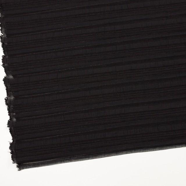 ナイロン&リネン混×ボーダー(ブラック)×オーガンジー・ジャガード_全4色 イメージ2