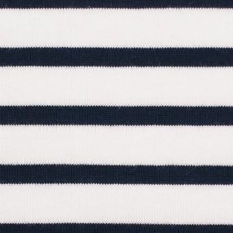 コットン×ボーダー(ホワイト&ダークネイビー)×天竺ニット_全4色