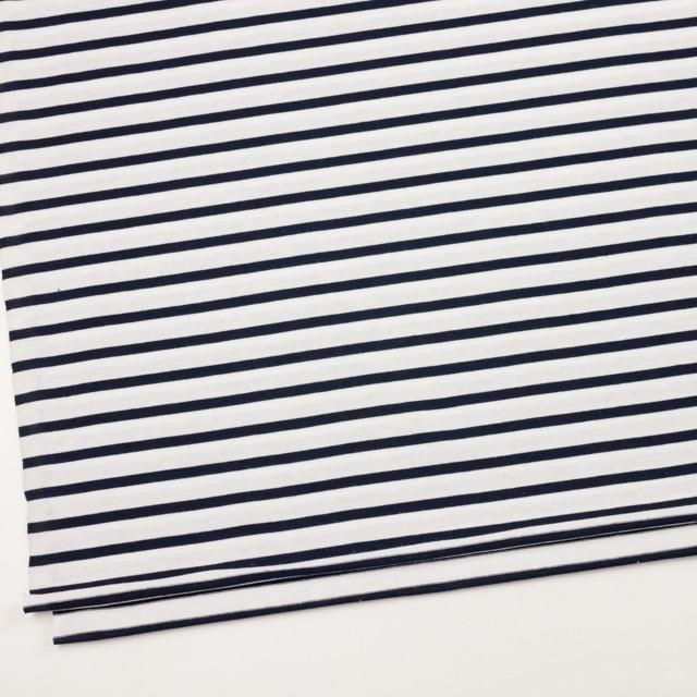 コットン×ボーダー(ホワイト&ダークネイビー)×天竺ニット_全4色 イメージ2