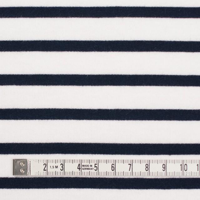 コットン×ボーダー(ホワイト&ダークネイビー)×天竺ニット_全4色 イメージ4