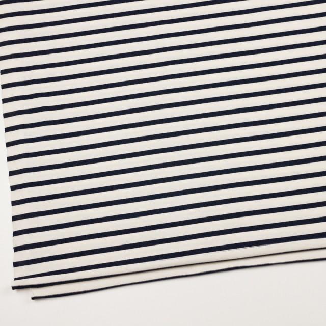 コットン×ボーダー(キナリ&ダークネイビー)×天竺ニット_全4色 イメージ2