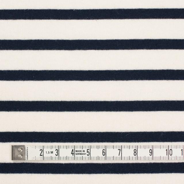 コットン×ボーダー(キナリ&ダークネイビー)×天竺ニット_全4色 イメージ4