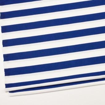 コットン×ボーダー(ホワイト&ブルー)×天竺ニット_全4色 サムネイル2
