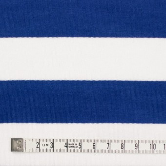 コットン×ボーダー(ホワイト&ブルー)×天竺ニット_全4色 サムネイル4