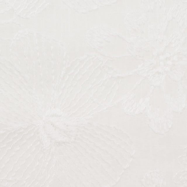 コットン×フラワー(ホワイト)×ボイル刺繍_全2色 イメージ1