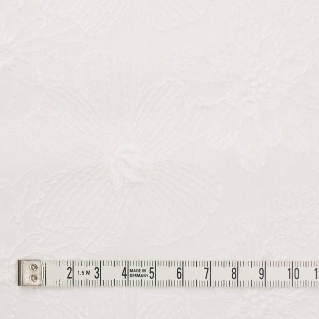 コットン×フラワー(ホワイト)×ボイル刺繍_全2色 イメージ4