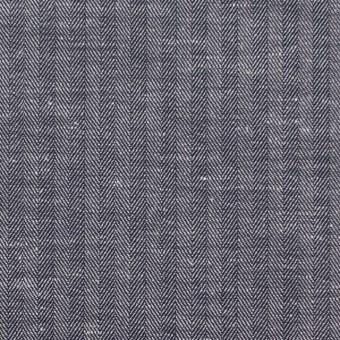 コットン&リネン×無地(ネイビー)×ヘリンボーン_全2色 サムネイル1