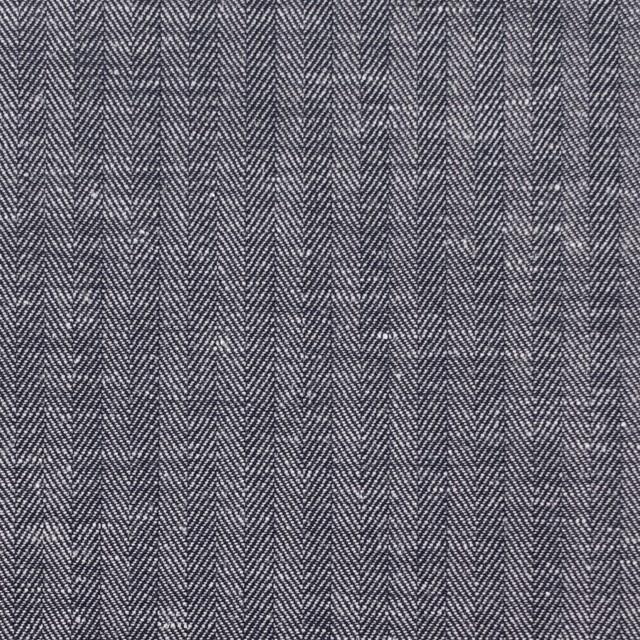 コットン&リネン×無地(ネイビー)×ヘリンボーン_全2色 イメージ1