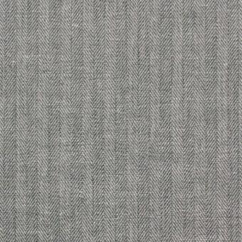 コットン&リネン×無地(グレー)×ヘリンボーン_全2色 サムネイル1