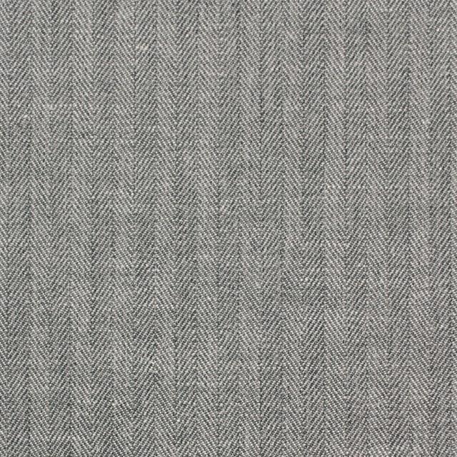 コットン&リネン×無地(グレー)×ヘリンボーン_全2色 イメージ1
