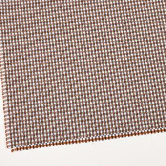 コットン×チェック(ホワイト&オレンジ、ブラック)×ドビーブロード サムネイル2