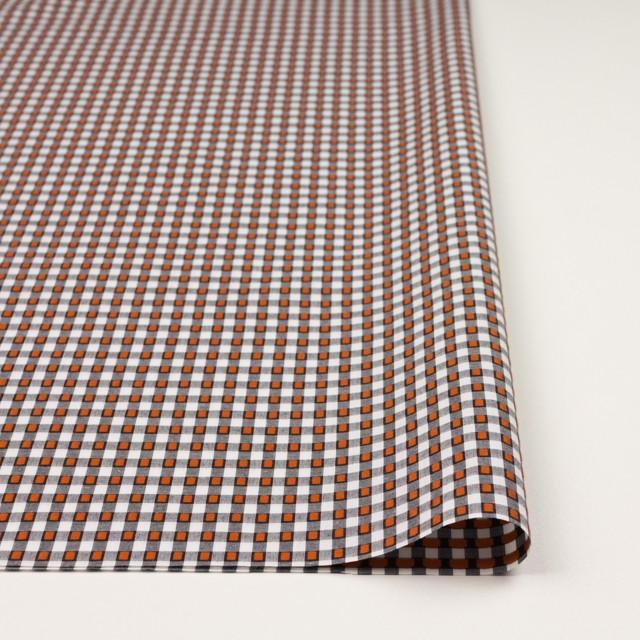 コットン×チェック(ホワイト&オレンジ、ブラック)×ドビーブロード イメージ3