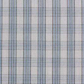 コットン×チェック(ブルー&グレー)×ブロード サムネイル1