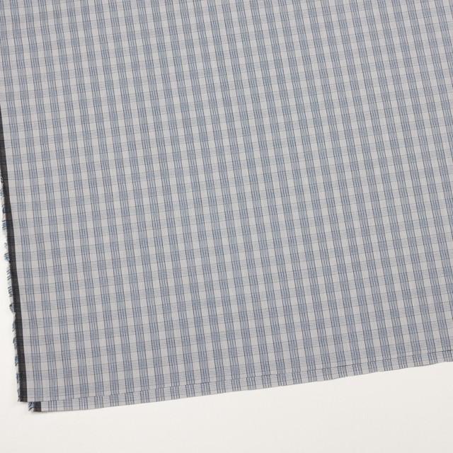 コットン×チェック(ブルー&グレー)×ブロード イメージ2